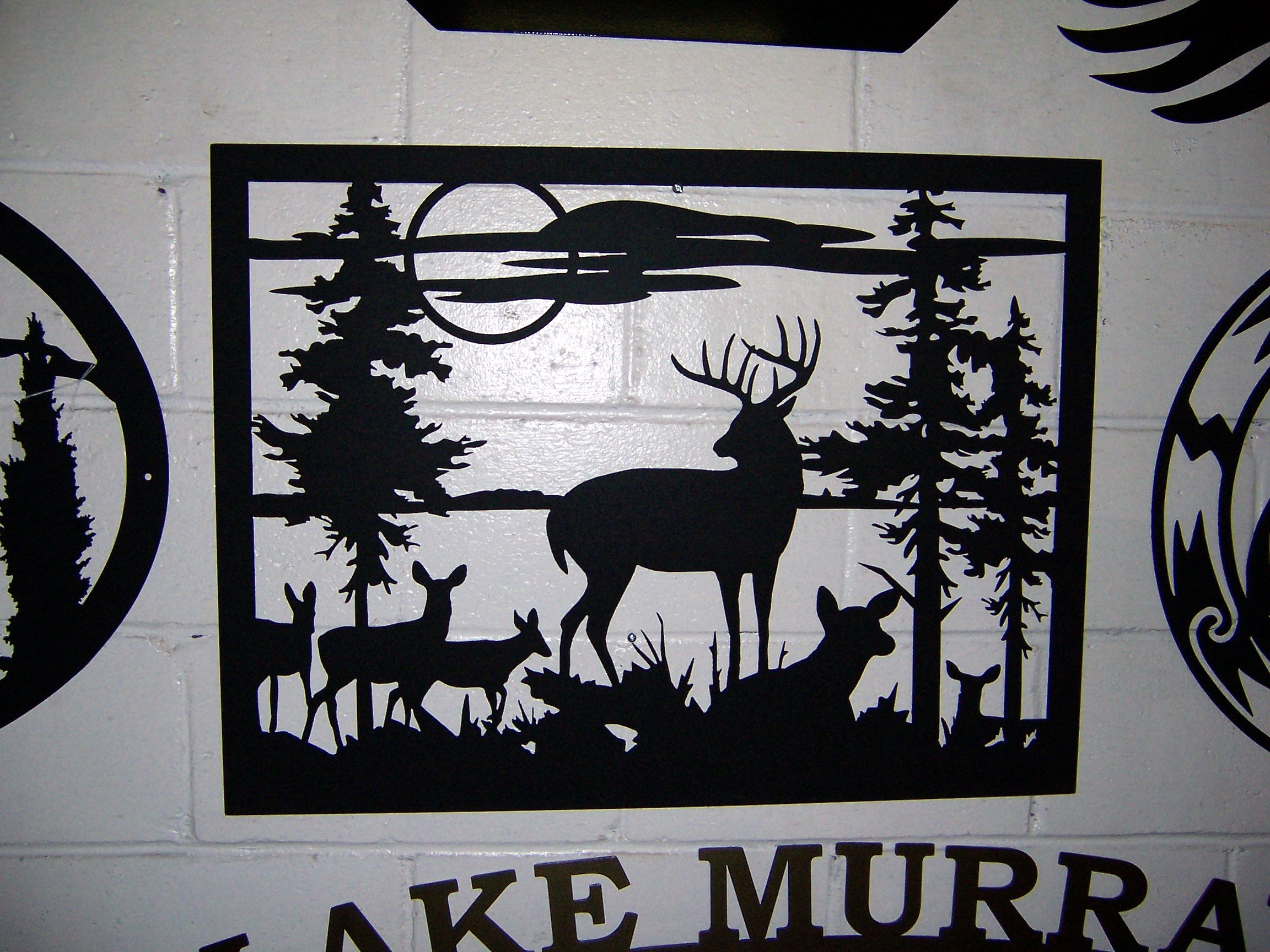 Pin wildlife designs metal art and silhouette wall for Silhouette wall art