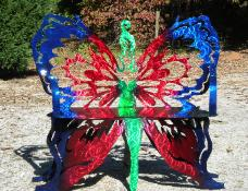 Butterfly bench by plasma designs.
