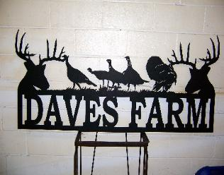 Custom metal signs.