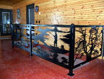 Metal railings by plasma designs.
