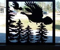 wild turkeys flying wall art.