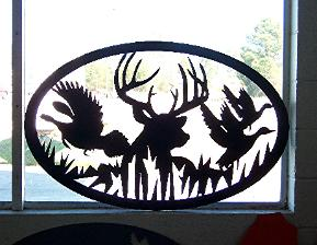 Metal wildlife signs and entrance signs